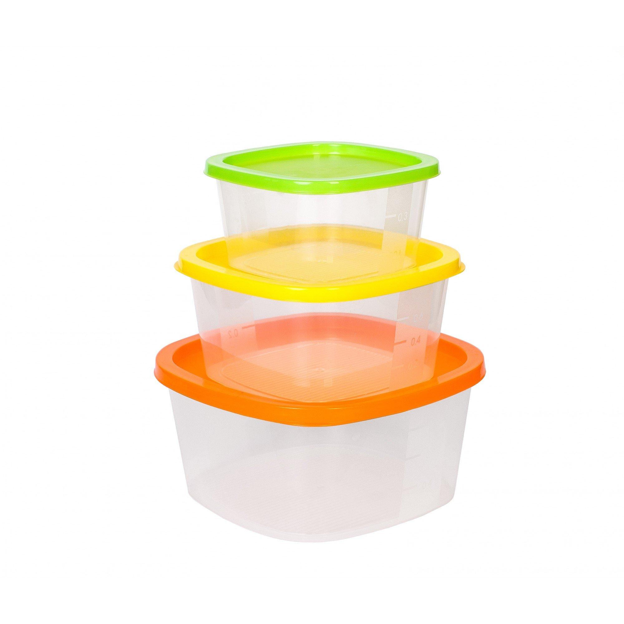 Набор контейнеров 0,5 л; 0,9 л; 1,55 л Rainbow Hitt 3 предмета