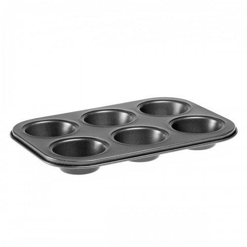 Форма для выпечки 26,5 x 18,5 x 3 см Hitt для кексов 6 ячеек